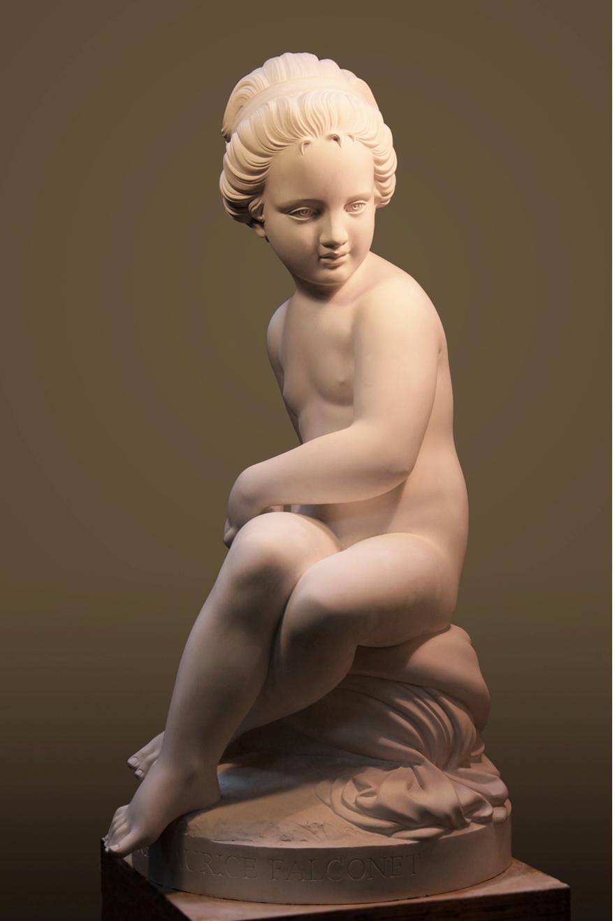 Психея, авторская работа Елены Афти - вариация на тему скульптуры Этьена Мориса Фальконе-Амур.  Материал исполнения-гипс.